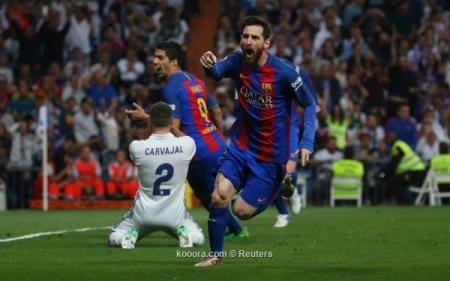 ميسي يقود برشلونة للفوز على مدريد بالوقت القاتل
